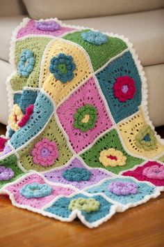 Field of Dreams Baby Blanket | Patterns.  That's it. I'm reteaching myself how to crochet.
