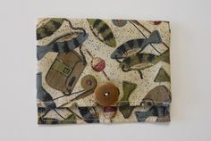 Fishing Theme Fabric Business Card Holder by SarahsStitchesMI