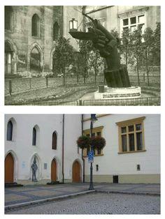 """Památník """"Lidické světlo"""",který stál na náměstí 1.máje Artwork, Painting, Work Of Art, Painting Art, Paintings, Paint, Draw"""