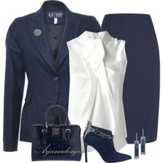 """Armani Work Outfit"" by arjanadesign on Polyvore"