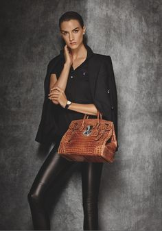 Cashmere and leather: a perfect pairing for a sophisticated statement from Ralph Lauren #RLIcons