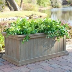 patio planter - cedar driftwood