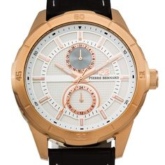 Pierre Bernard Monolith Men's Miyota Movement with Date and 24 Hour Time Genuine Multi Function Watch Big Watches, Sport Watches, Luxury Watches, Cool Watches, Watches For Men, Wrist Watches, Automatic Skeleton Watch, Automatic Watch, Skeleton Watches