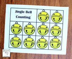 Polar Express Printables- Jingle Bell Count Worksheet without Numbers Christmas Train, Christmas Bells, Christmas Ideas, Polar Express Kid, Learning Colors, Learning Games, Bell Pictures, Train Activities, Number Games