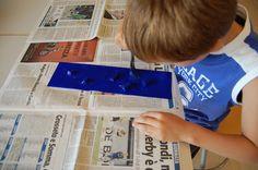 """Little Mart: laboratorio """"L'alchimia del blu"""", 2013 www.mart.trento.it/educazione"""