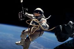 During the EVA (spacewalk), astronaut Ed White was connected to the Gemini 4 capsule by a 25-foot-long umbilical and a 23-foot-long tether.