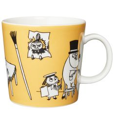 This is a complete list of all Arabia Moomin Mugs from the fist Moomin Mugs in 1990 and all the way to 2019 and forward. Moomin Mugs, Tove Jansson, Marimekko, Coffee Cups, Tableware, Creative, Mumi, Den, Kawaii