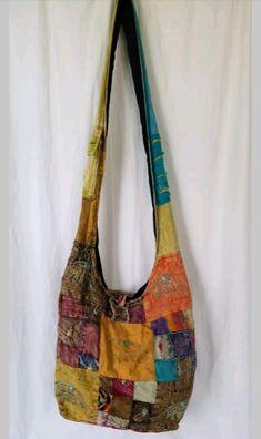 Patchwork Hippie Hobo Crossbody Bag on Mercari Mochila Hippie, Hippie Style, My Style, Granola Girl, Hippie Vibes, Hobo Crossbody Bag, Hippie Bags, Patchwork Bags, Piercings