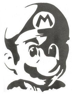 Airbrush Supplies, Pumpkin Stencil, Free Stencils, Scroll Saw Patterns, Silhouette Art, Stencil Art, Mario Kart, Video Game Art, Screen Printing