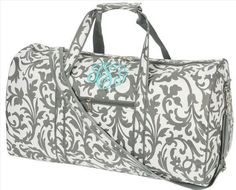 Monogram Duffel Bag Monogram Bridesmaid GIft by DazzleMePink, $28.99