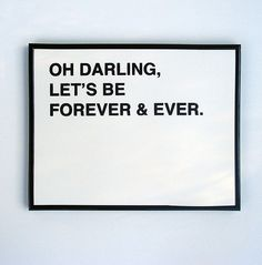 "write a love note to your other half every day starting with ""Oh Darling"" so cute!"