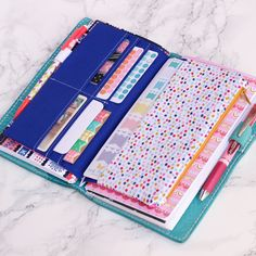 Looking for a stylish storage solution for your Dori? These Divas will fit ANY Dori of your choice whether it be a leather or fabric one ♥The Standard Dori Diva (fits standard/narrow and wide doris) has 6 card slots for credit cards, page flags, sticky notes ect, 1 long pocket for sticker she...