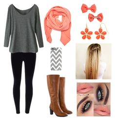 """Autumn"" by taylorbug1616 ❤ liked on Polyvore featuring Tanya Taylor, H&M, Liz Claiborne and Jilsen Quality Boots"