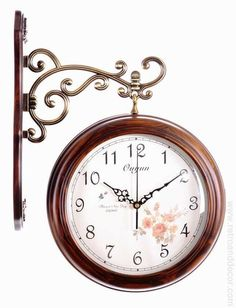 simply antique brown clock