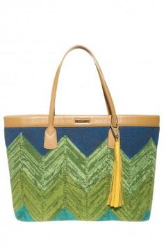 MISSONI Wool Tote Bag. #missoni #bags #leather #hand bags #wool #silk #tote #