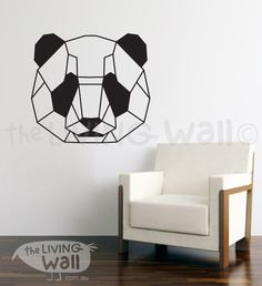 Panda Wall Decor Home, Panda Bear Wall Mural Decal for Kids or Adults &…
