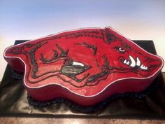 Arkansas Razorback Cake By Paint Pony on CakeCentral.com