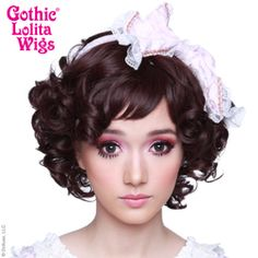 Gothic Lolita Wigs world leader alternative, daily, high fashion Japanese style hair. Curly Bob Wigs, Short Curly Bob, Curly Bob Hairstyles, Curly Hair Styles, Small Curls, Big Curls, Pastel Hair, Smooth Hair, Gothic Lolita