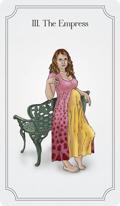 The Empress: Use creative energy to your advantage. (The Charming Tarot)