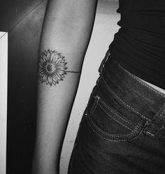 Bracelete de girassol tattoo