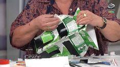 Revista da Cidade- Vaso feito com caixinhas de leite- 08/11/13