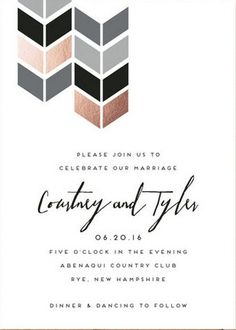 Modern invitation suite with rose gold and grey palette @minted #wedding: