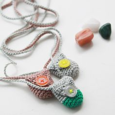 I say make for the kiddos for their fallen out tooth...becomes the tooth fairy bag! Fill with semi-precious stones, or lucky pennies and wear :)