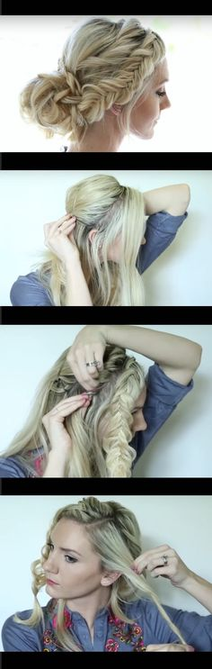 Quick and Easy Hairstyles for Straight Hair - Soft Romantic Half Up Style - Popular Haircuts and Simple Step By Step Tutorials and Ideas for Half Up, Short Bobs, Long Hair, Medium Lengths Hair, Braids, Pony Tails, Messy Buns, And Ideas For Tools Like Flat Irons and Bobby Pins. These Work For Blondes, Brunettes, Twists, and Beachy Waves - https://www.thegoddess.com/easy-hairstyles-straight-hair