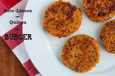 Der beliebte Rote-Linsen-Quinoa-Burger und warum ich kein Fleisch mehr esse