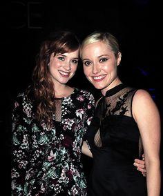 Elizabeth Lail and Georgina Haig at s4 OUAT premiere