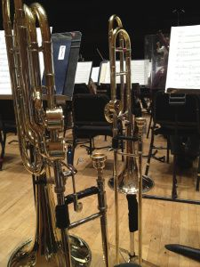 "Survey on tenor/bass trombone doubling - ""A tenor trombone mouthpiece on a bass trombone simply does not produce the necessary lower overtones. The pitch will be sharp and nasal... Using a bass trombone mouthpiece on a tenor trombone makes it flat and dull sounding."""