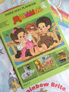 Hey, I found this really awesome Etsy listing at http://www.etsy.com/listing/157640144/1983-monchhichi-paper-doll-playbook