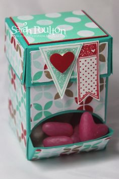 Stampin' Sarah!: Pinkies Stampin' Up! Spring Summer Catalogue Blog Hop: Fresh Prints Sweet Dispenser 3d Paper Crafts, Paper Gifts, Diy Paper, Bubble Bath Homemade, 3d Printing Diy, Cute Gift Boxes, Mini Scrapbook Albums, Craft Box, Craft Fairs
