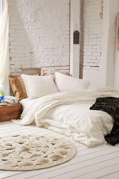 chambre, boheme, romantique, blanc