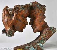 """Tenderness""_by Mª Ángeles Anglada.1965.Spain. sculpture."