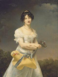 Portrait of Amélie-Justine Laidin de la Bouterie, née Pontois by Adele Romany (1769-1846)
