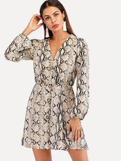 Pour femme à mancherons imprimé casual extensible près du corps robe midi plus size8-22