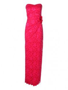 Lace Bandeau Corsage Maxi Dress | Jane Norman