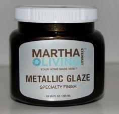 Martha Stewart Metallic Glaze Black Coffee Satin Specialty Finish