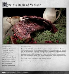 """When ordering venison ribs, be prepared for their ridiculous size."" MORE RECIPES: http://itsh.bo/LQC1sC #gameofthrones #venison #food #recipes #dinner"