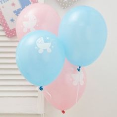Tiny Feet Balloons 8 Baby Shower Pink & Blue Party Supplies Decorations 49621 for sale online Baby Shower Host, Baby Shower Items, Baby Shower Party Supplies, Baby Shower Parties, Baby Ballon, Baby Shower Balloons, Babyshower, Organiser Une Baby Shower, Christening Balloons
