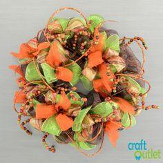 DIY Video for Fall Glitter Ball Wreath | CraftOutlet.com Blog