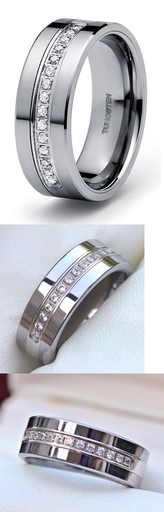 Wedding and Anniversary Bands 92842: Tungsten Carbide Diamond Mens Engagement Wedding Band Ring Guard 0.30 Carats -> BUY IT NOW ONLY: $69.99 on eBay! Cramp Remedies, Wedding Engagement, Engagement Rings, Ring Guard, Tungsten Carbide, Anniversary Bands, Wedding Ring Bands, Rings For Men, Diamond