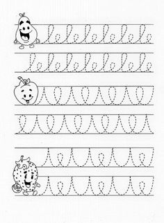 Pre-writing skills for kids - Teaching Cursive Writing, Preschool Writing, Preschool Learning Activities, Pre Writing, Alphabet Activities, Writing Skills, Teaching Kids, English Worksheets For Kids, Kindergarten Math Worksheets