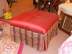 Furniture Red Ottoman, Space Saving, Modern Interior, Vanity, Furniture, Home Decor, Dressing Tables, Powder Room, Decoration Home