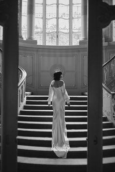 Wedding Looks, Wedding Wear, Wedding Dresses, City Wedding Venues, Ivory Silk, Silk Satin, 1930s Dress, Bride Accessories, Vintage Gowns