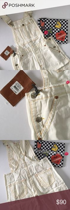 🦄🆕 True Religion ʊ Katie Crop Overalls ʊ True Religion ʊ Katie Cropped Overalls Manufacturer's Style #24594 Brand New with Tags *Still in the Wrapper*  🦄🦄🦄🦄🦄🦄🦄🦄🦄🦄🦄🦄  Charming True Religion overalls rendered in a gorgeous bleached out color and a short cropped profile. Adjustable shoulder straps. Last pair ANYWHERE! [from the True Religion hey day] So for fox sake, HURRY!   Always authentic! Never a need to ask... 🦄🦄🦄🦄🦄🦄🦄🦄🦄🦄🦄🦄  ✗ Drama ✗ Trades ⚡️Fast Shipper ☆☆☆☆☆…