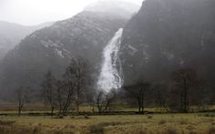 A great view of Steall Waterfall in Glen Nevis near Fort William, Highland, Scotland Scotland Travel, Scotland Trip, Highlands Scotland, Glen Nevis, In The Beginning God, Fort William, England And Scotland, Great View, Great Britain