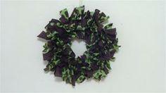 Buncha-Spots Brown/Green Rag Wreath  - www.maycausememories.net