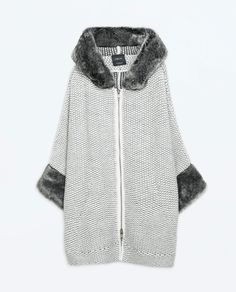 Image 6 of FAUX FUR JACKET WITH HOOD from Zara